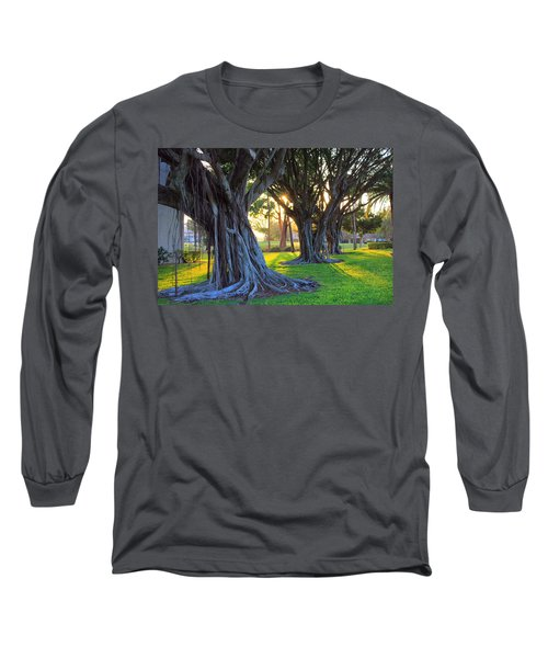 Indian Sunset Long Sleeve T-Shirt by Iryna Goodall