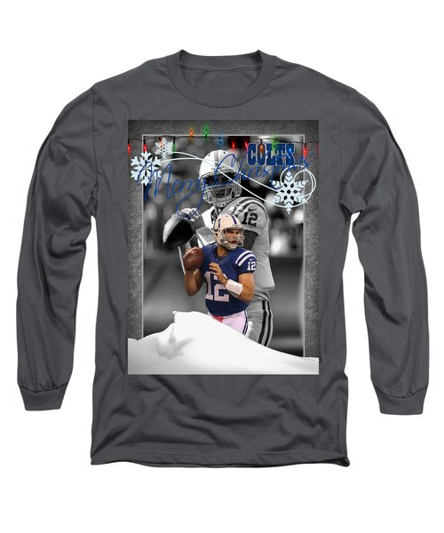 Indianapolis Colts Christmas Card Long Sleeve T-Shirt