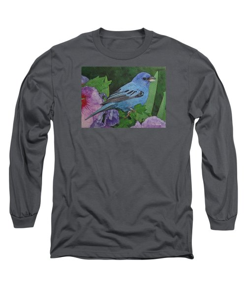 Indigo Bunting No 2 Long Sleeve T-Shirt
