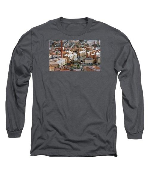 Industrial Town Miniature Model Long Sleeve T-Shirt