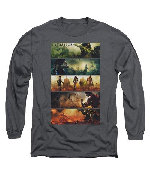 Injustice Gods Among Us - Panels Long Sleeve T-Shirt