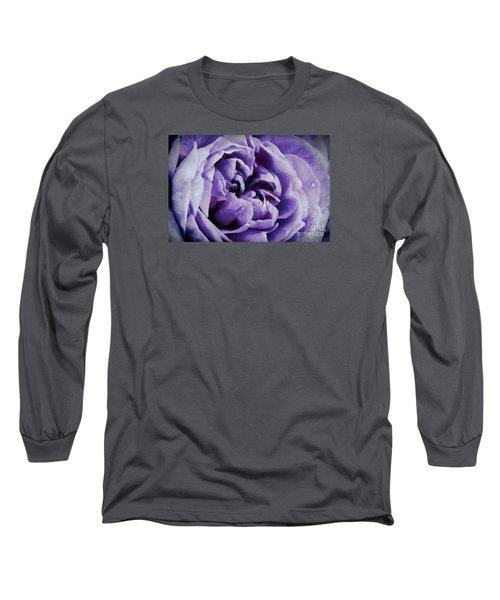 Lavender Motive Long Sleeve T-Shirt by Jean OKeeffe Macro Abundance Art