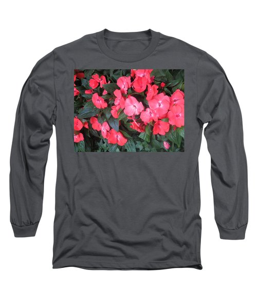 Long Sleeve T-Shirt featuring the photograph Interior Decorations Butterfly Garden Flowers Romantic At Las Vegas by Navin Joshi