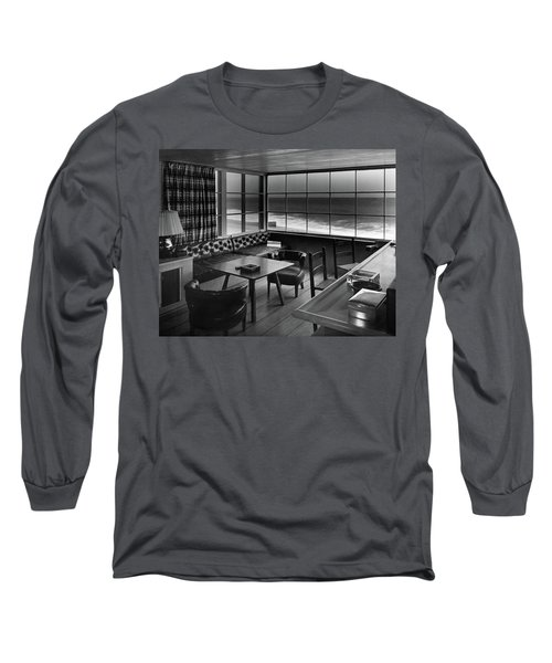 Interior Of Beach House Owned By Anatole Litvak Long Sleeve T-Shirt