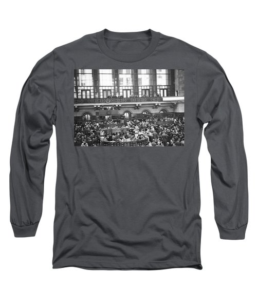 Interior Of Ny Stock Exchange Long Sleeve T-Shirt