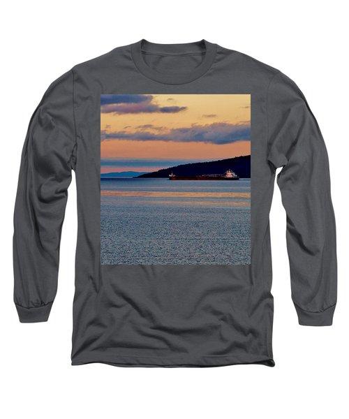 Into The Gitchigumi Night Long Sleeve T-Shirt by Daniel Thompson
