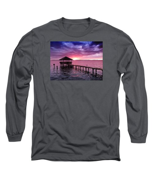 Into The Horizon Long Sleeve T-Shirt by Rebecca Davis