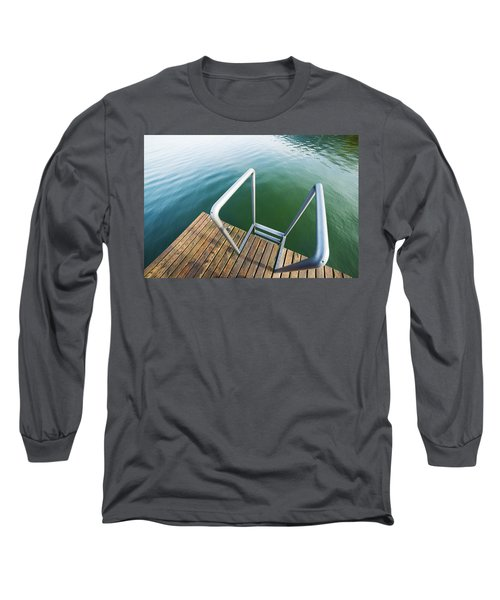 Long Sleeve T-Shirt featuring the photograph Into The Water by Chevy Fleet