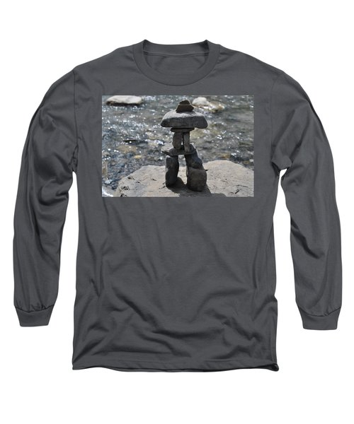 Inukshuk By The Water Long Sleeve T-Shirt