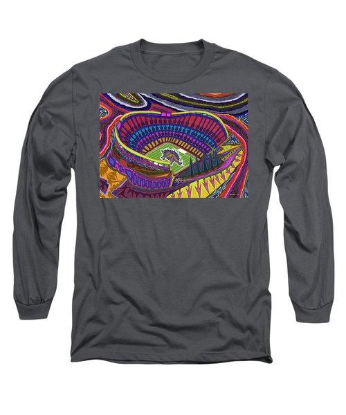 Invesco Field - Stegasaurus Stadium Long Sleeve T-Shirt by Robert SORENSEN