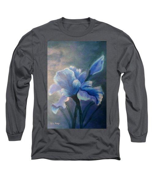 Iris Blue Long Sleeve T-Shirt by Kay Novy