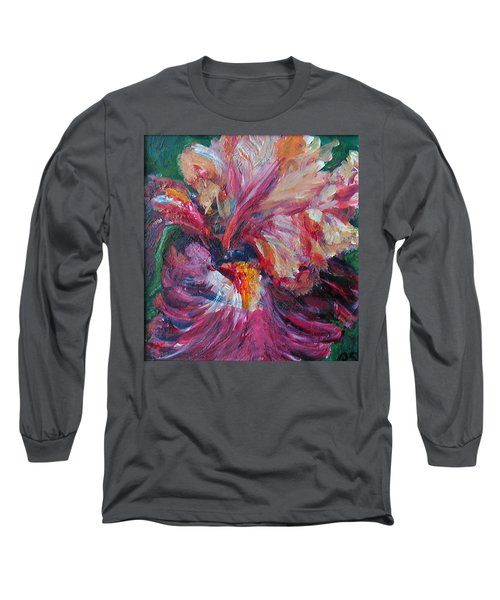 Iris - Bold Impressionist Painting Long Sleeve T-Shirt