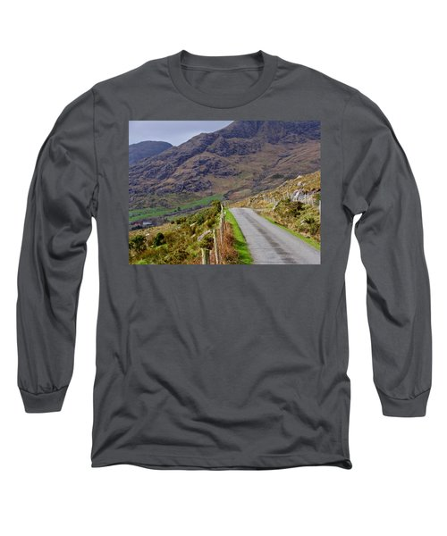 Long Sleeve T-Shirt featuring the photograph Irish Road by Suzanne Oesterling
