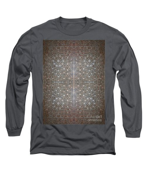 Islamic Wooden Texture Long Sleeve T-Shirt by Antony McAulay