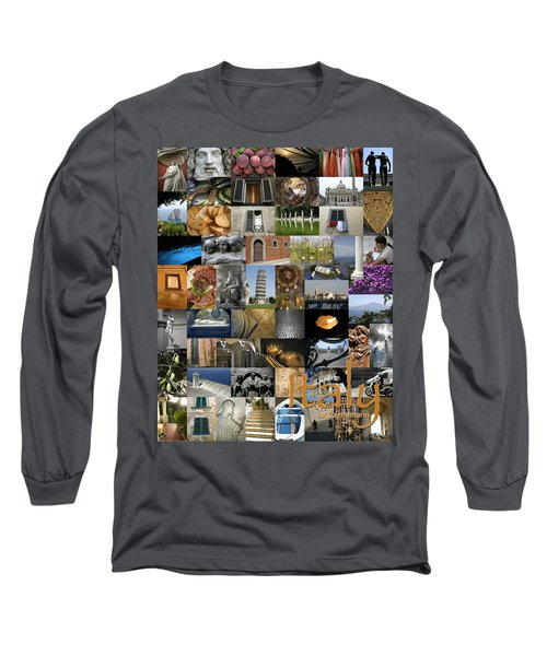 Italy Poster Long Sleeve T-Shirt
