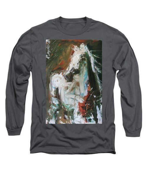 Long Sleeve T-Shirt featuring the painting Ivory by Robert Joyner