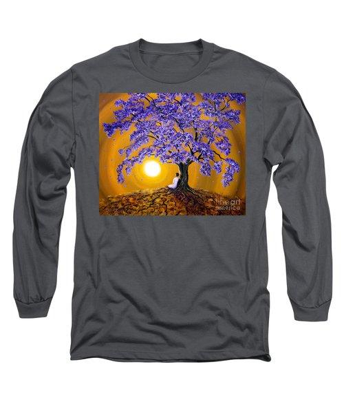 Jacaranda Sunset Meditation Long Sleeve T-Shirt