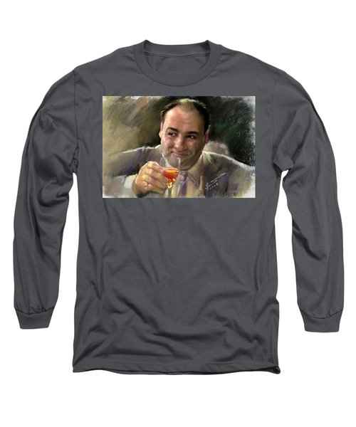 James Gandolfini Long Sleeve T-Shirt by Viola El