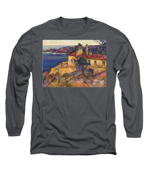 James House Carmel Highlands California By Rowena Meeks Abdy 1887-1945  Long Sleeve T-Shirt by California Views Mr Pat Hathaway Archives