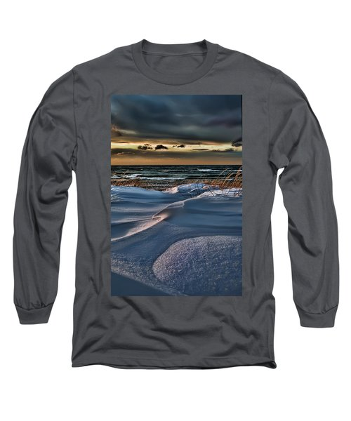 January Saugatuck Blues Michigan Long Sleeve T-Shirt
