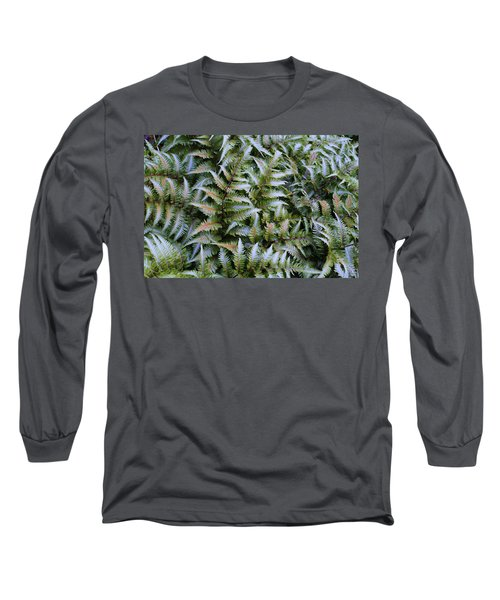 Long Sleeve T-Shirt featuring the photograph Japanese Ferns by Kathryn Meyer