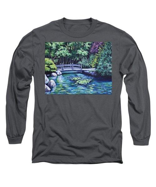 Japanese Garden Bridge San Francisco California Long Sleeve T-Shirt