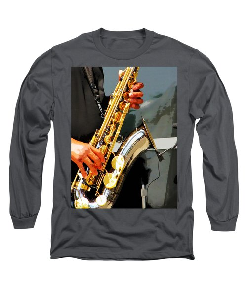 Long Sleeve T-Shirt featuring the photograph Jazz Man by John Freidenberg