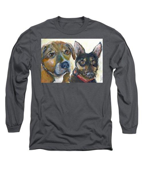 Jena And Dozer  Long Sleeve T-Shirt by Bernadette Krupa