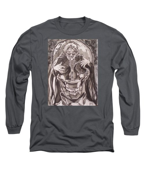 Jerry Garcia . . Magic Is What We Do - Music Is How We Do It Long Sleeve T-Shirt by Sean Connolly