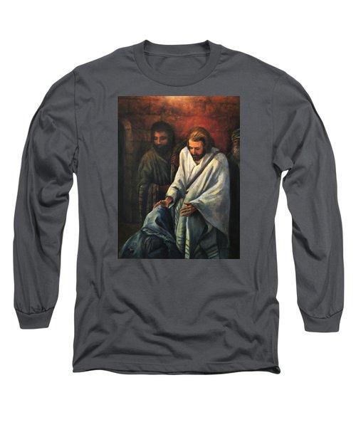 Jesus Healing Beggar Long Sleeve T-Shirt