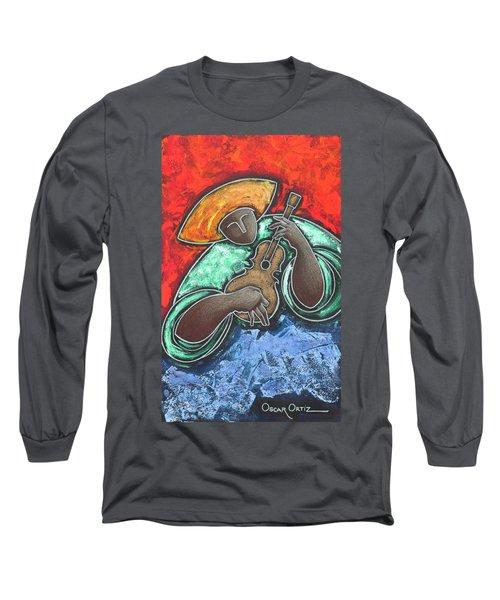 Jibaro Encendi'o Long Sleeve T-Shirt by Oscar Ortiz