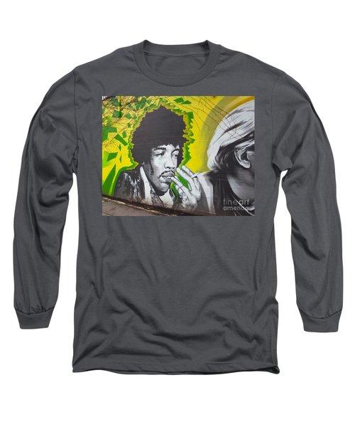 Jimmy Hendrix Mural Long Sleeve T-Shirt