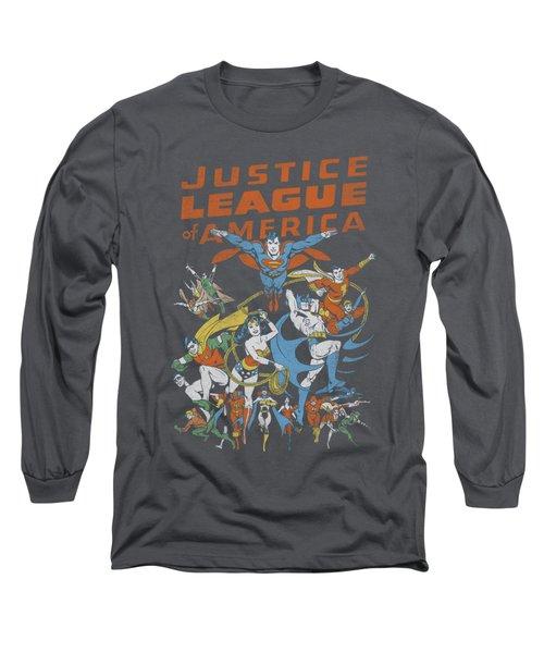 Jla - Big Group Long Sleeve T-Shirt