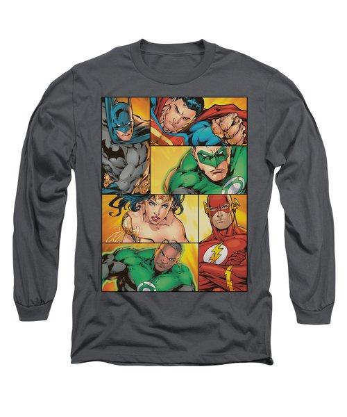 Jla - Hero Boxes Long Sleeve T-Shirt