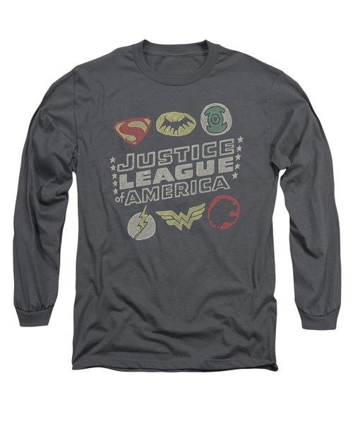 Jla - Symbols Long Sleeve T-Shirt
