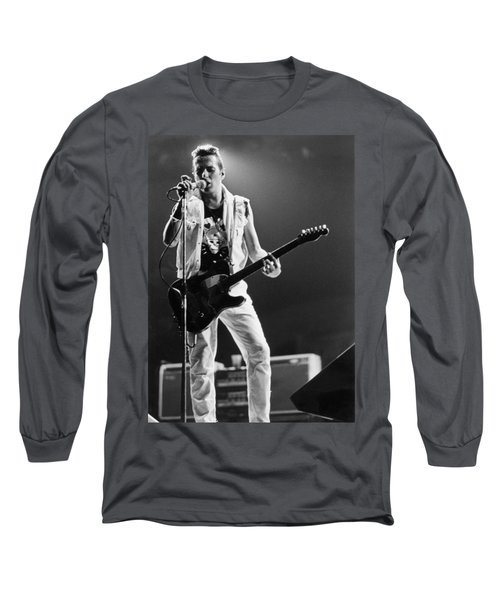 Joe Strummer At Clash Final Concert Long Sleeve T-Shirt