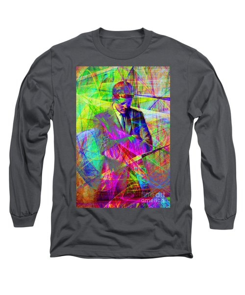 John Fitzgerald Kennedy Jfk In Abstract 20130610 Long Sleeve T-Shirt