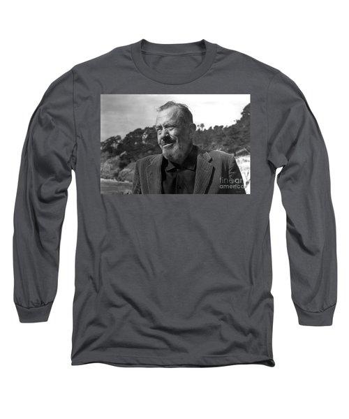 John Steinbeck Pebble Beach, Monterey, California 1960 Long Sleeve T-Shirt