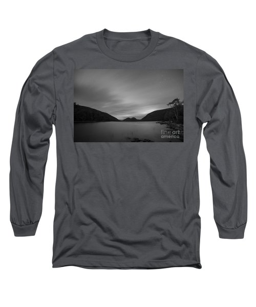 Jordan Pond Blue Hour Bw Long Sleeve T-Shirt