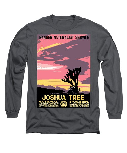 Joshua Tree National Park Vintage Poster Long Sleeve T-Shirt