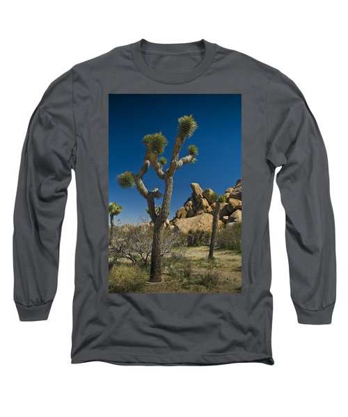 California Joshua Trees In Joshua Tree National Park By The Mojave Desert Long Sleeve T-Shirt