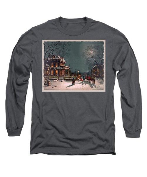 Long Sleeve T-Shirt featuring the digital art Joy Of The Season by Lianne Schneider
