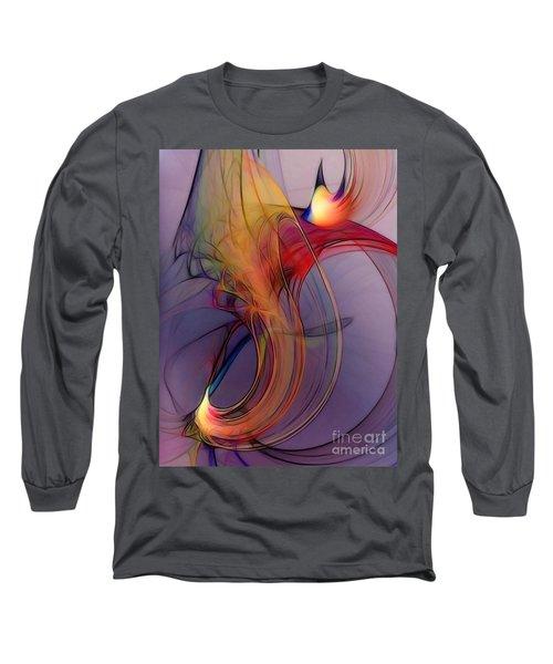 Joyful Leap-abstract Art Long Sleeve T-Shirt