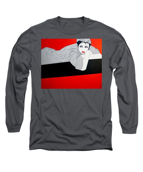 Just Relaxing Long Sleeve T-Shirt by Nora Shepley