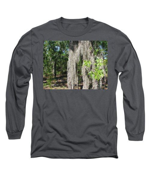 Long Sleeve T-Shirt featuring the photograph Just The Backyard by Greg Patzer