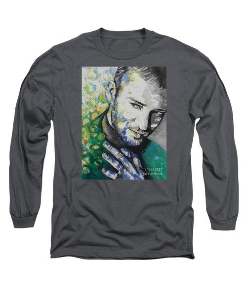 Justin Timberlake...01 Long Sleeve T-Shirt by Chrisann Ellis
