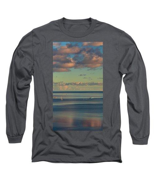 Kaneohe Bay Panorama Mural 4 Of 5 Long Sleeve T-Shirt