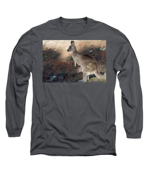 Kangaroo And Joey Long Sleeve T-Shirt