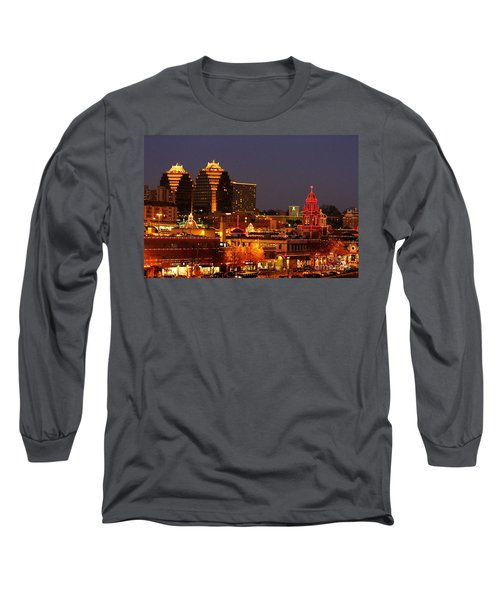 Kansas City Plaza Lights Long Sleeve T-Shirt