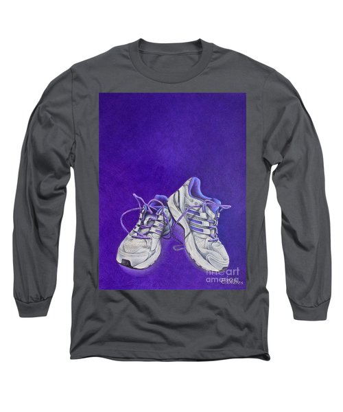 Long Sleeve T-Shirt featuring the painting Karen's Shoes by Pamela Clements